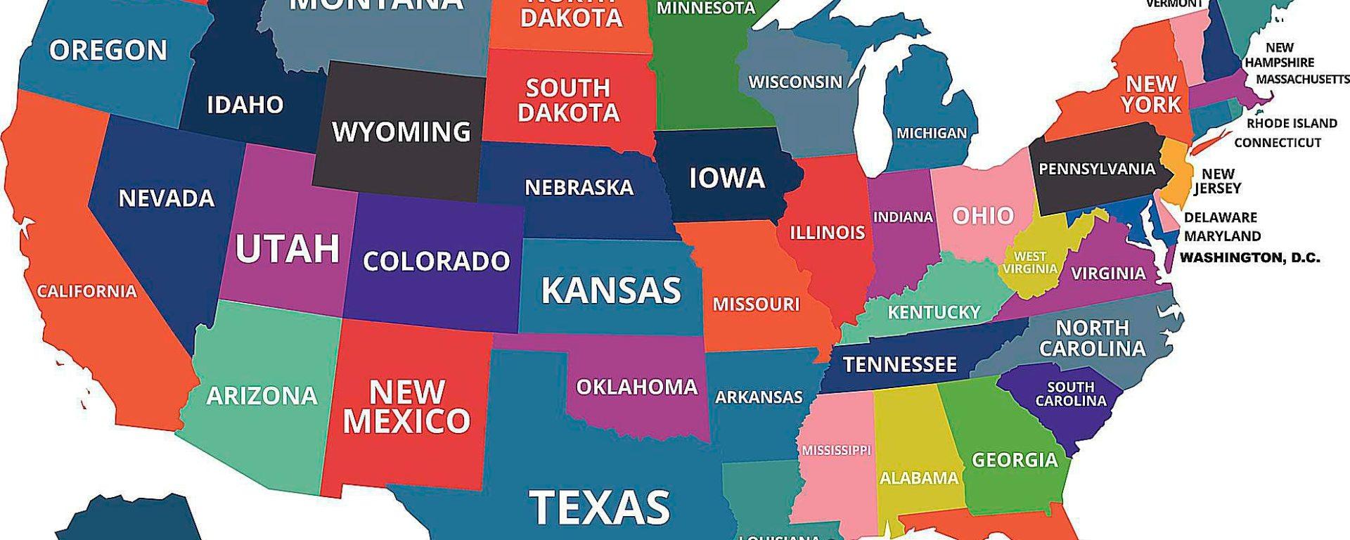 معلومات عن كل ولايات امريكا America 360